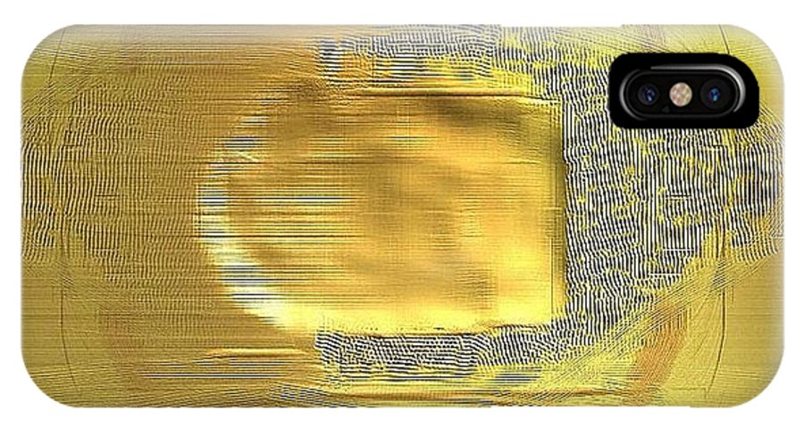 Digital IPhone X Case featuring the digital art Golden Digital Painting by Ilona Burchard