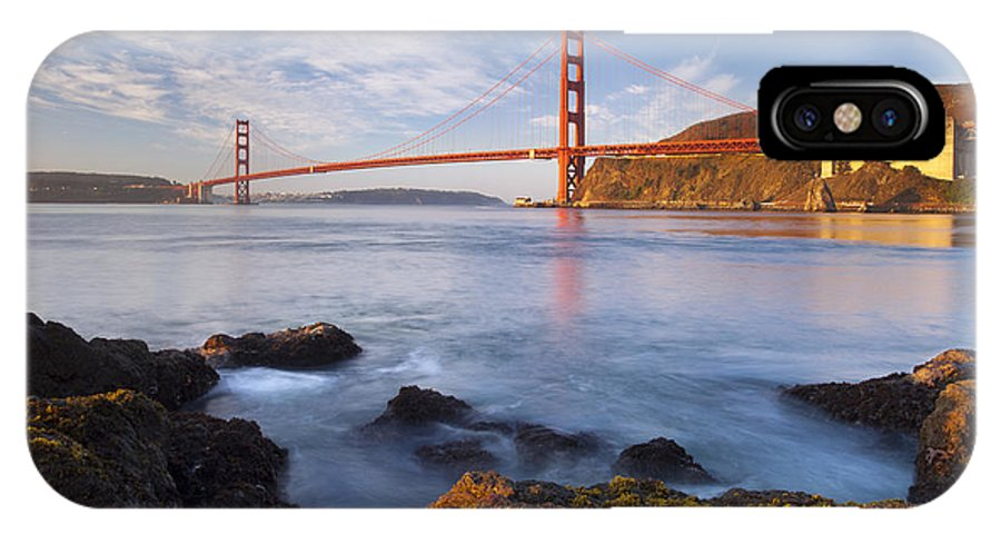 Golden Gate IPhone X Case featuring the photograph Golden Gate At Dawn by Brian Jannsen