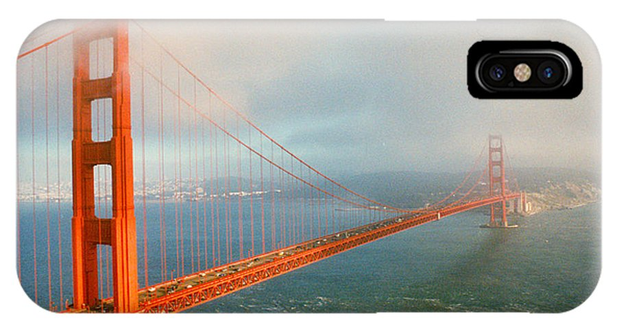 Golden Gate IPhone X Case featuring the photograph Golden Gate Bridge by Diana Haronis