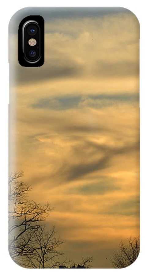Sunset IPhone X Case featuring the photograph Golden Hue by Bonnie Myszka