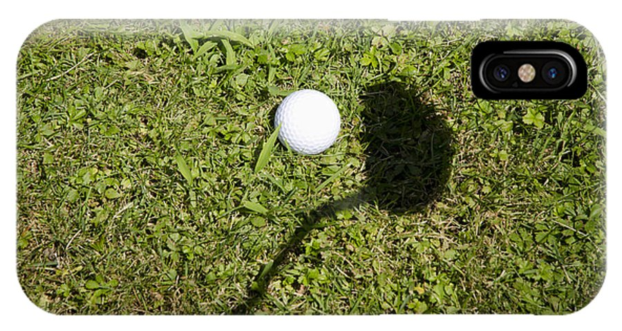 Golf IPhone X Case featuring the photograph Golf Ball And Shadow by Mats Silvan
