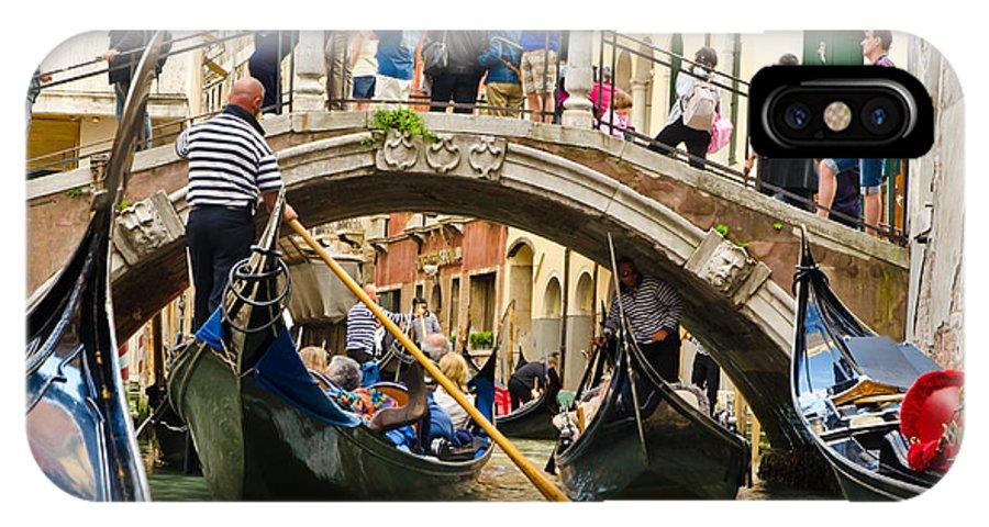 Gondola IPhone X Case featuring the photograph Gondolas Galore by Jon Berghoff
