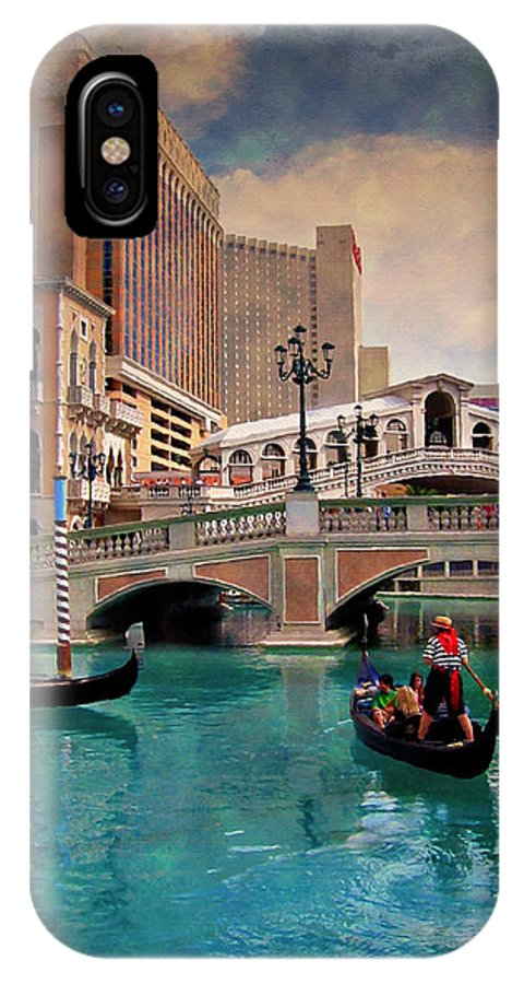 Las IPhone X Case featuring the photograph Gondolas On The Canal - Impressions by Ricky Barnard