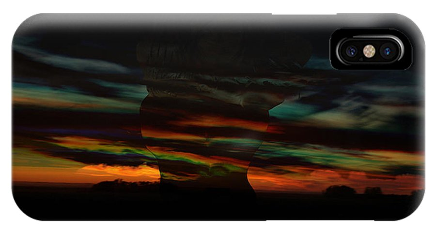 Woman Clouds Sky Colors Of The Rainbow Image Naked Women Night Dusk Sunset Storm Within IPhone X / XS Case featuring the photograph Grabbing Life By The Colors by Andrea Lawrence