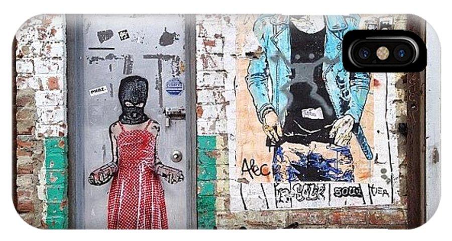 Summer IPhone X Case featuring the photograph Graffiti Artist by Randy Lemoine