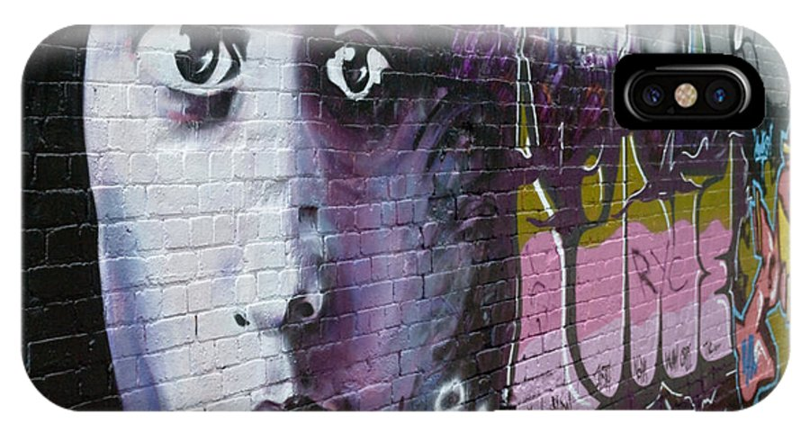 Graffiti IPhone X Case featuring the painting Graffiti Permission Wall by Yurix Sardinelly