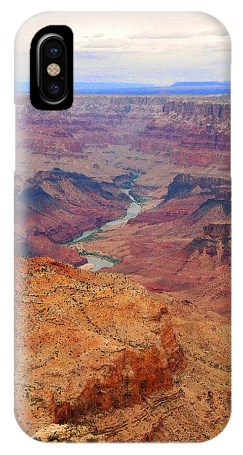 Grand Canyon IPhone X Case featuring the digital art Grand Canyon Nationa Park Painting by Eva Kaufman