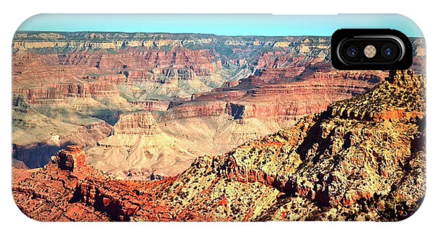 Canyon IPhone X Case featuring the photograph Grand Canyon On A Clear Day by Tara Turner