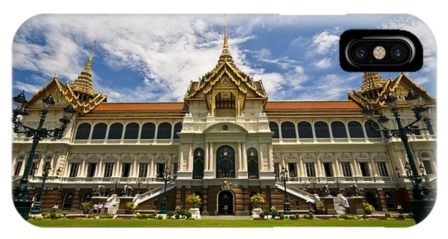 Grand Palace IPhone X Case featuring the photograph Grand Palace Chakri Mahaprasad Hall Front View Bangkok by Charuhas Images
