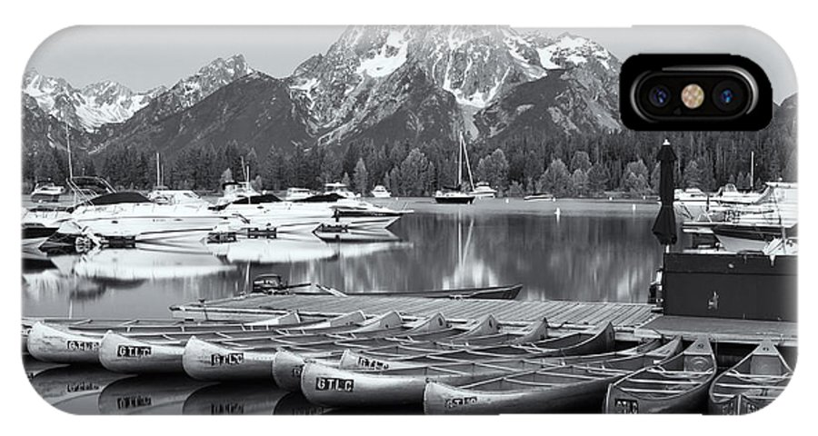 Clarence Holmes IPhone X / XS Case featuring the photograph Grand Teton Dawn Iv by Clarence Holmes