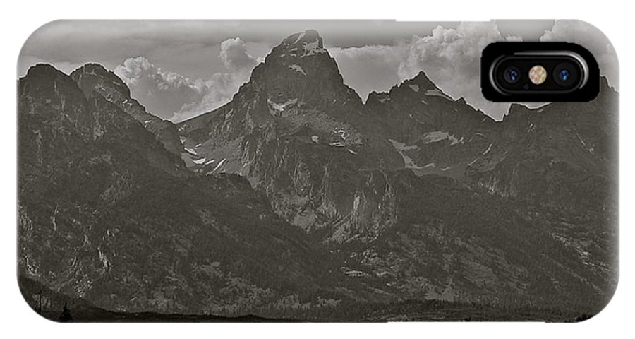 Mountains IPhone X Case featuring the photograph Grand Tetons by Eric Tressler