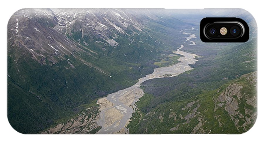 Wrangell Saint Elias National Park IPhone X Case featuring the photograph Granite Creek In The Chugach Mountains by Rich Reid