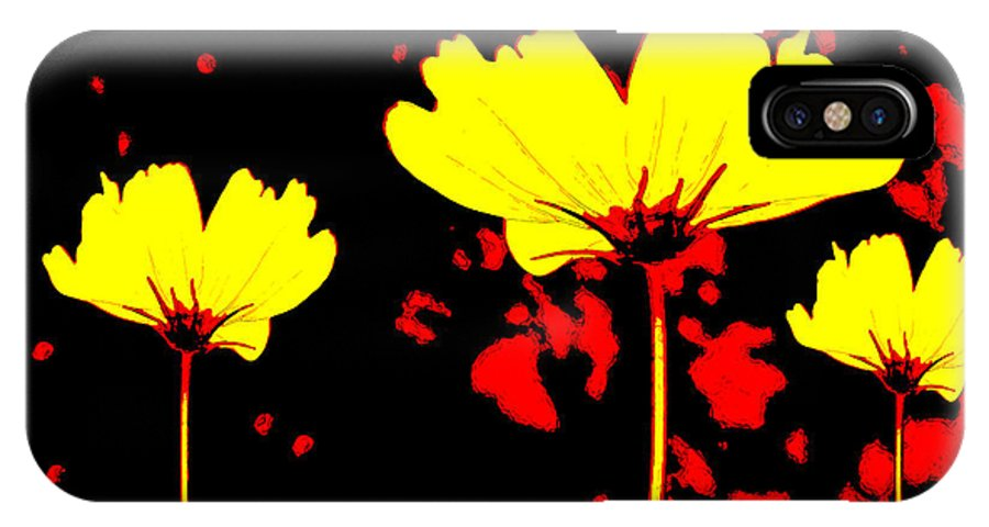 Wildflower IPhone X Case featuring the mixed media Graphic Three by Angelina Vick
