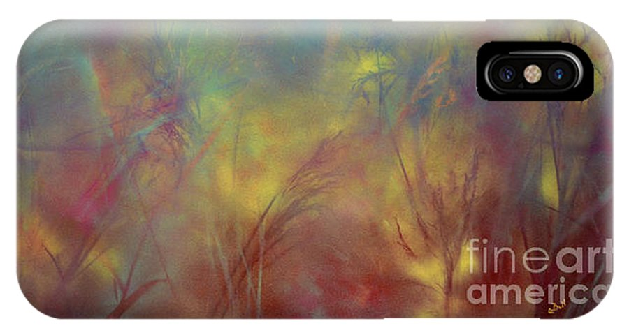 Grass IPhone X Case featuring the painting Grasses by Claire Bull