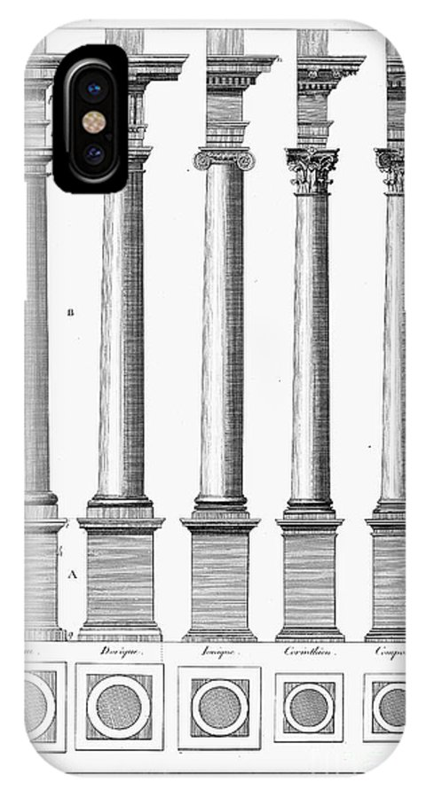 18th Century IPhone X Case featuring the photograph Greek And Roman Columns by Granger
