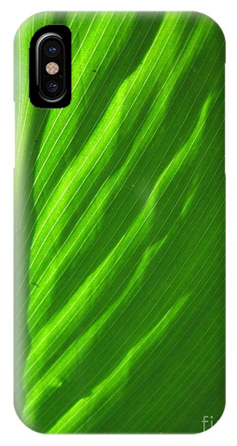 Green IPhone X Case featuring the photograph Green by Jan Prewett