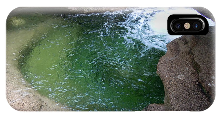 Rocks IPhone X Case featuring the photograph Green Pool At Sabbath Day Falls by Nancy Griswold