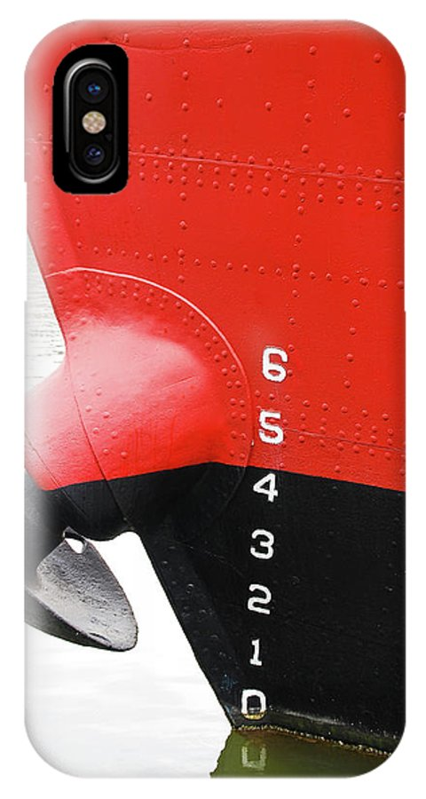 Boat IPhone X Case featuring the photograph Guage by Guy Whiteley