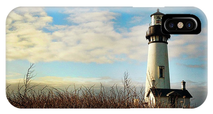 Lighthouse IPhone X Case featuring the photograph Guiding Me Home by Becky Thompson