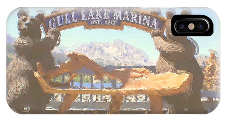 Gull Lake IPhone X Case featuring the photograph Gull Lake Marina by Brenda Deem