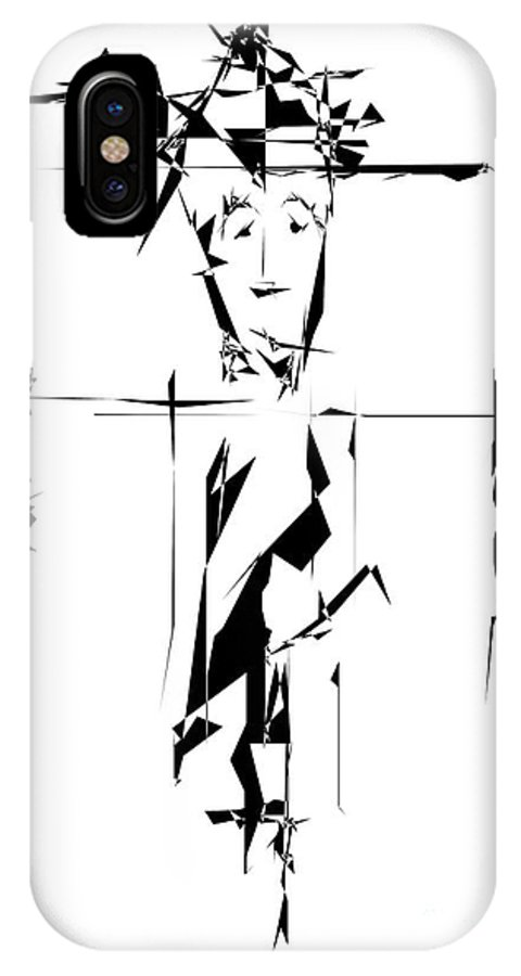 Graphics IPhone X Case featuring the digital art Gv090 by Marek Lutek