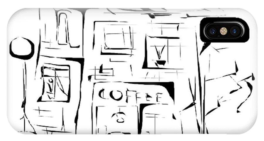 Graphics IPhone X Case featuring the digital art House 092 - Marucii by Marek Lutek