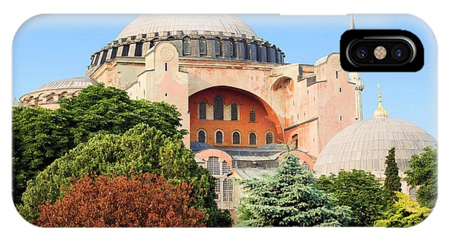 Ayasofya IPhone X Case featuring the photograph Hagia Sophia by Artur Bogacki