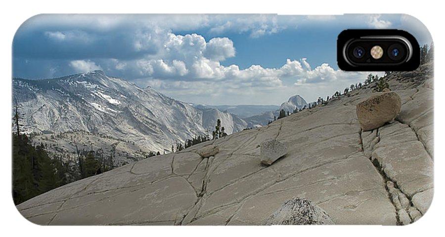 Usa IPhone X Case featuring the photograph Half Dome by LeeAnn McLaneGoetz McLaneGoetzStudioLLCcom