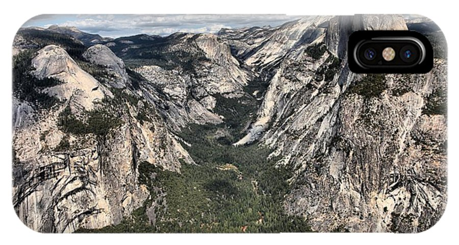 Half Dome IPhone X Case featuring the photograph Half Dome Valley by Adam Jewell