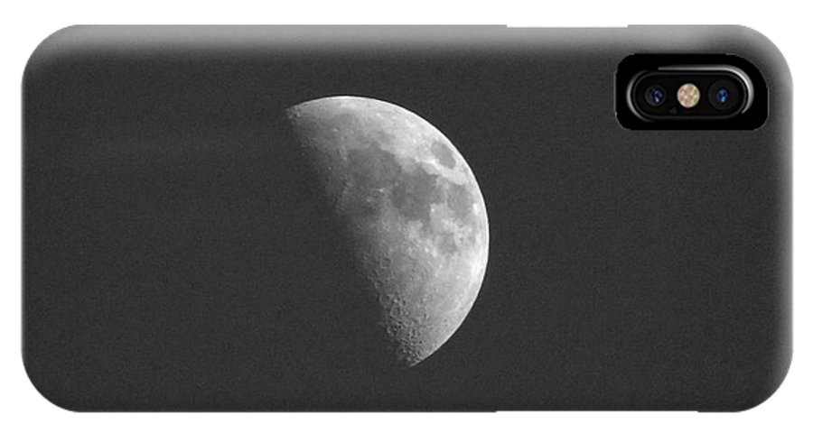 Moon IPhone X Case featuring the photograph Half Moon by Lori Tordsen