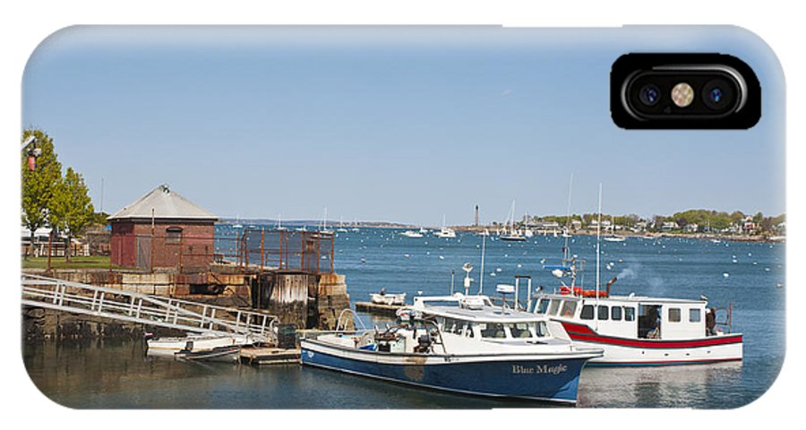 Water IPhone X Case featuring the photograph Hammond Pier by Ruth H Curtis