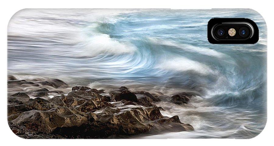 Aqua IPhone X Case featuring the photograph Hana Wave by Jenna Szerlag