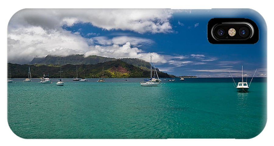 Beach IPhone X Case featuring the photograph Hanalei Bay Kauai by Roger Mullenhour