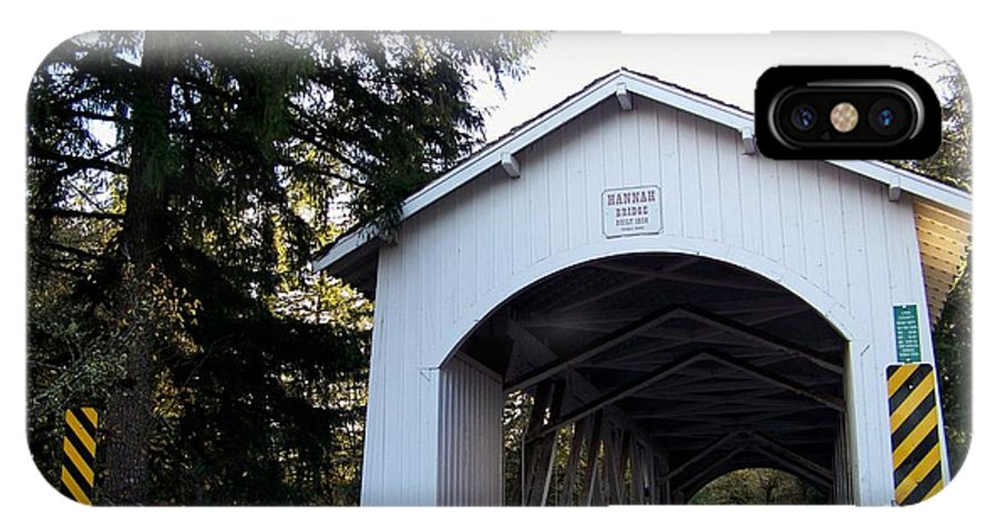 Covered Bridge IPhone X Case featuring the photograph Hannah Bridge by Charles Robinson