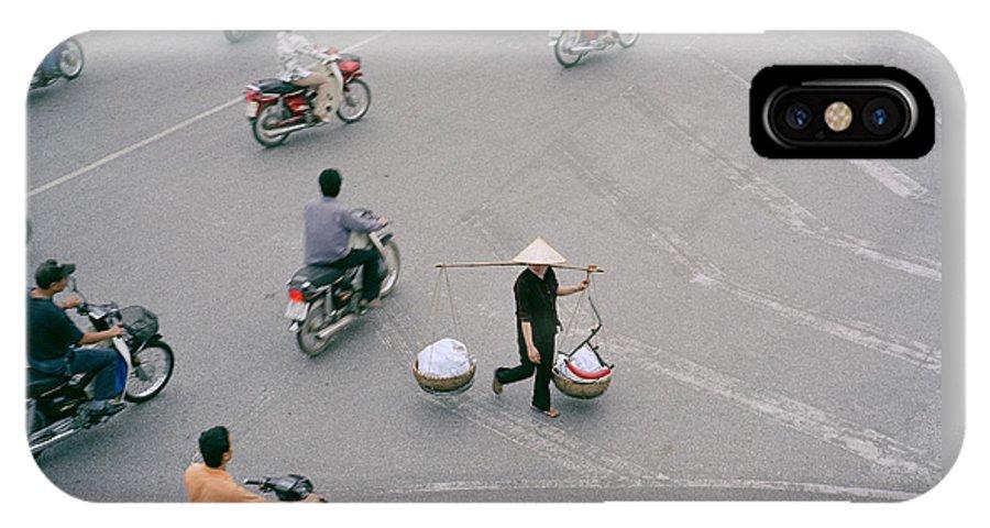 Hanoi IPhone X Case featuring the photograph Hanoi Woman by Shaun Higson