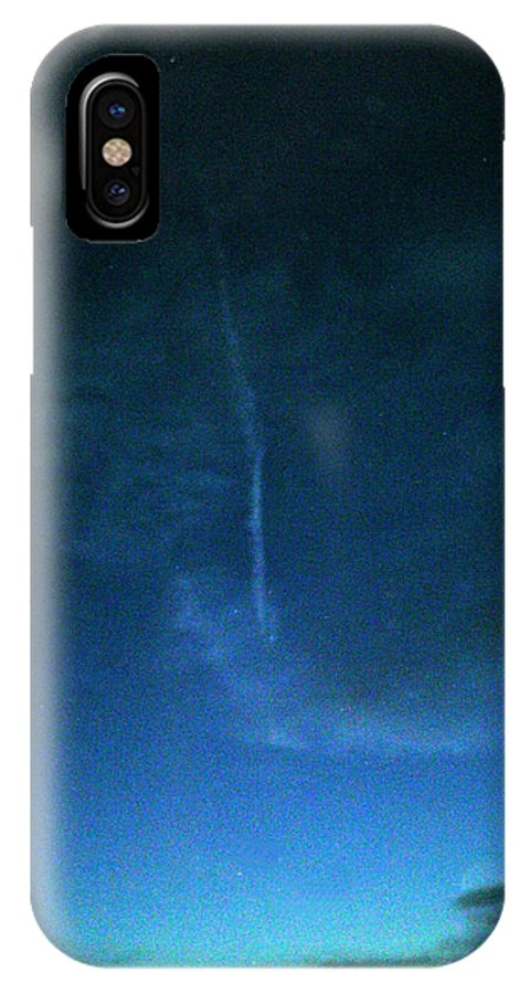 Dusk IPhone X Case featuring the photograph Happy Contrails To You by Louis Nugent
