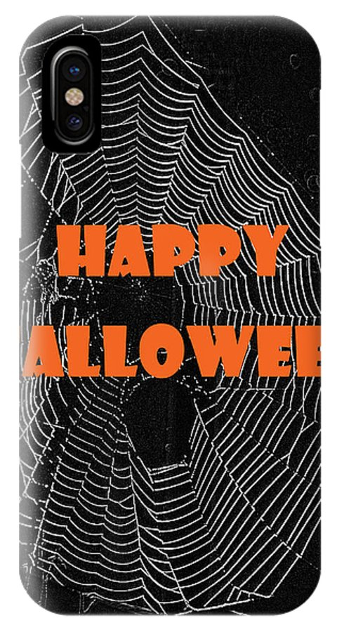 Halloween IPhone X Case featuring the photograph Happy Halloween Web by Judy Hall-Folde
