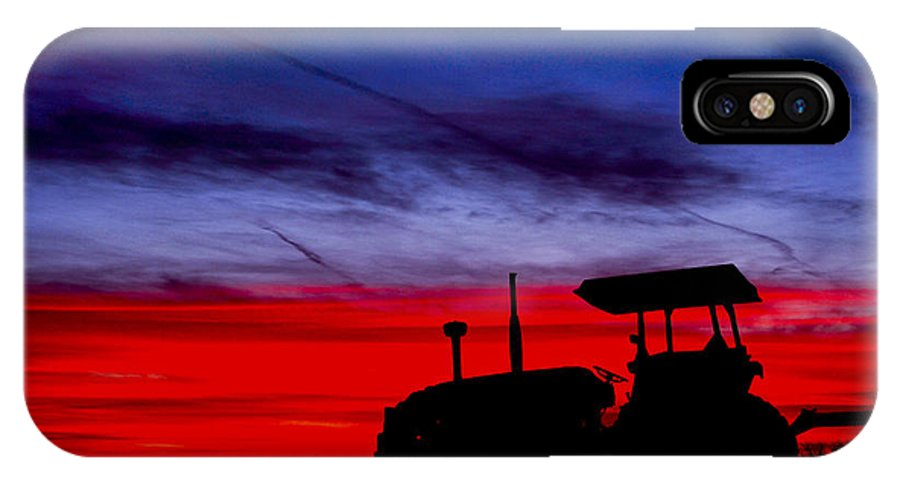 Farming IPhone X Case featuring the photograph Hard Day Ends by La Rae Roberts