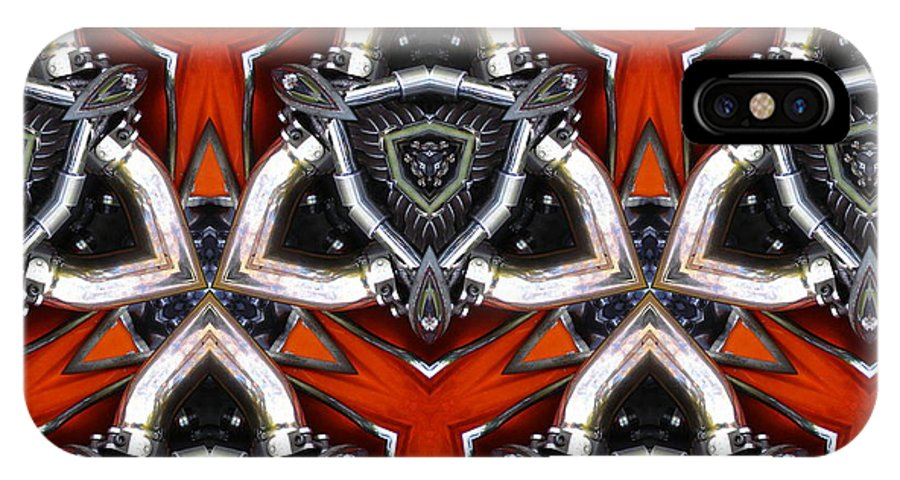 Bike IPhone X Case featuring the photograph Harley Art 4 by Joyce Dickens