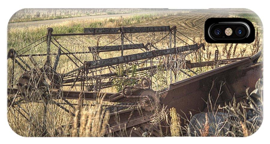International IPhone X Case featuring the photograph Harvester Sweep Wheel 1 by Douglas Barnett