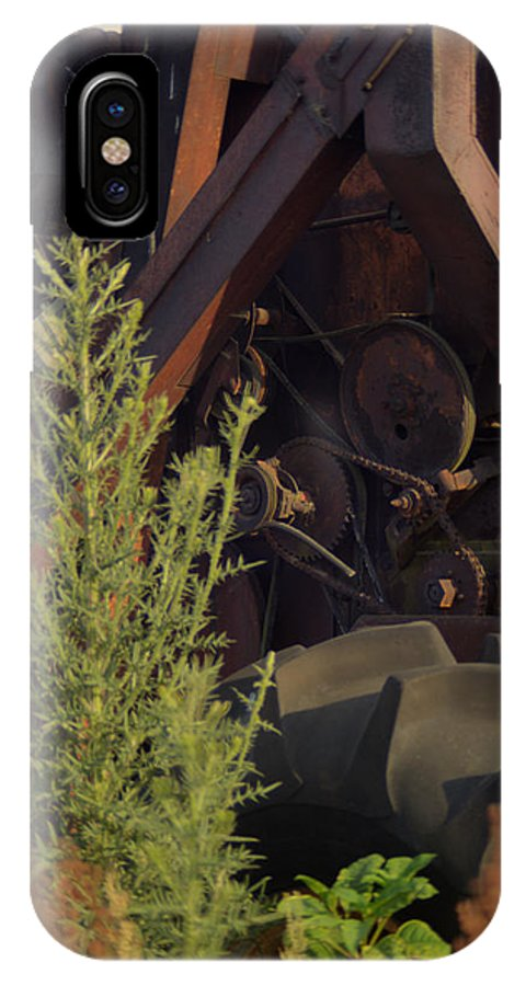 International IPhone X Case featuring the photograph Harvester Working Parts 2 by Douglas Barnett