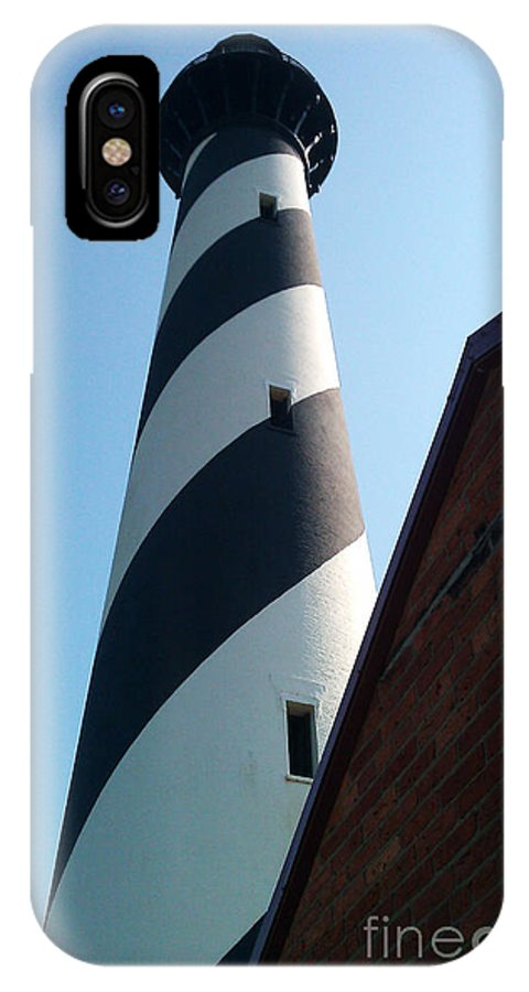 Hatteras IPhone X Case featuring the photograph Hatteras Light by Tony Cooper