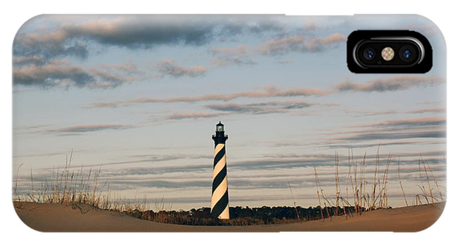 Cape Hatteras IPhone X Case featuring the photograph Hatteras Lighthouse And The Smiling Dune by Tony Cooper