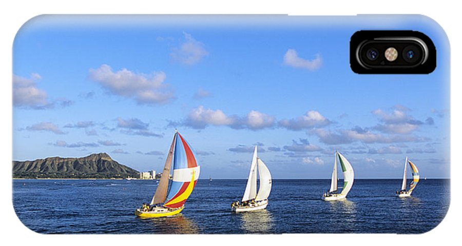 Afternoon IPhone X Case featuring the photograph Hawaii Sailboats by Joss