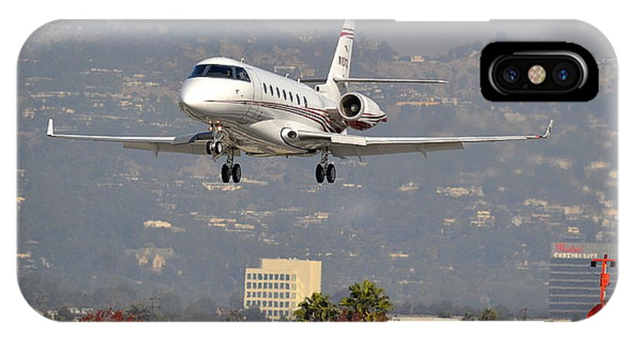 Hawker Jet IPhone X Case featuring the photograph Hawker Jet by Fraida Gutovich