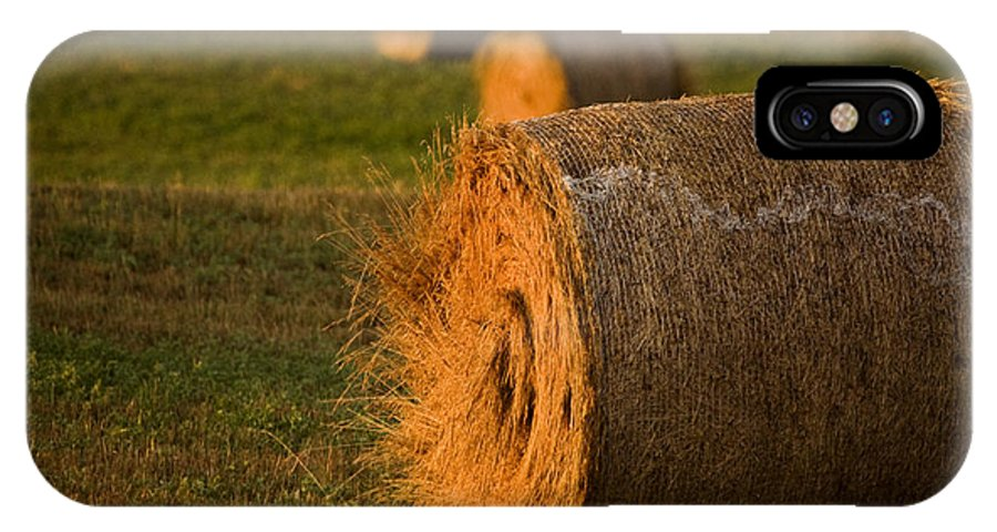 Hay IPhone X Case featuring the photograph Hay Bales by Mark Duffy
