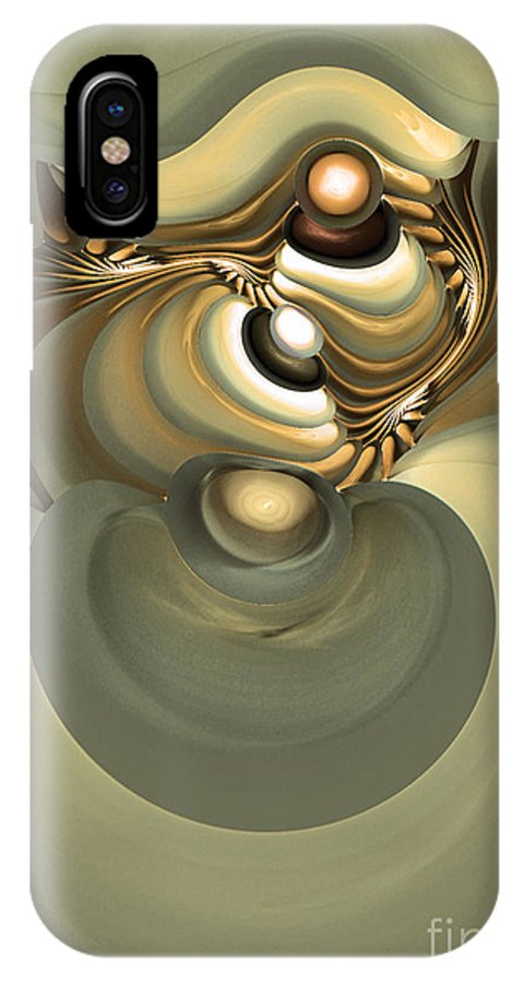 Fractal IPhone X Case featuring the digital art He Is Like His Father by Sipo Liimatainen