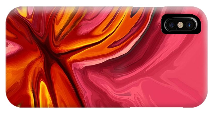 Abstract IPhone X Case featuring the digital art Heartache by Chris Butler