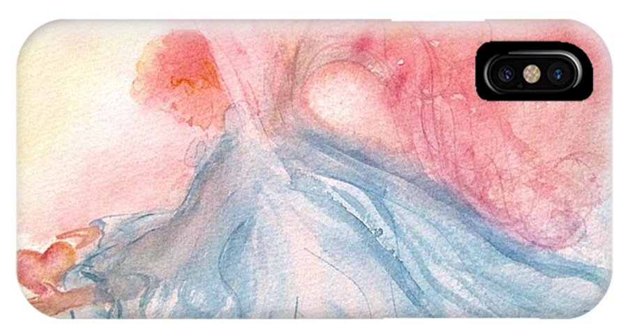 Angel IPhone X Case featuring the painting Heavenly Love by Marilyn Smith