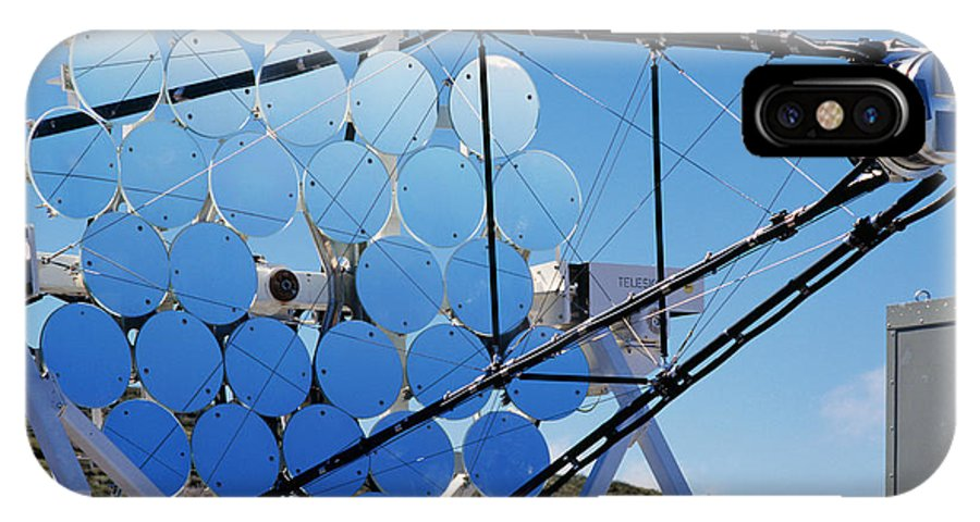Astronomy IPhone X Case featuring the photograph Hegra Gamma Ray Telescope by Detlev Van Ravenswaay